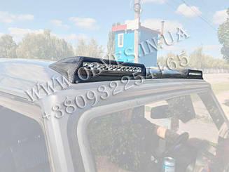 Карбоновый козырек Brabus над лобовым стеклом на крышу Mercedes G-class W463 (стиль 2017)