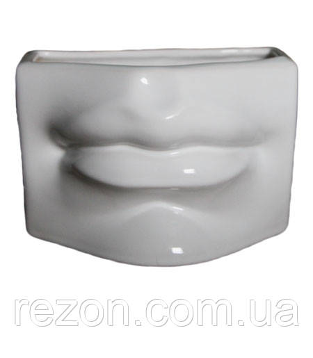 """Горшок керамический кашпо для цветов """"Губи"""" 0.7л Rezon Белый"""