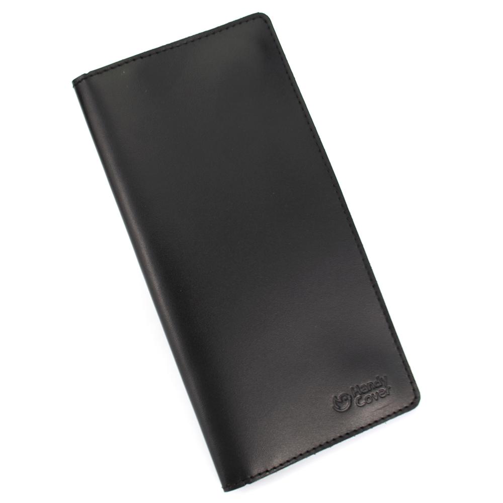 Кошелек мужской кожаный большой на магнитах Handycover HC0079 черный