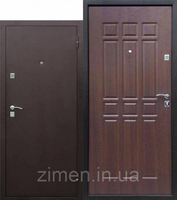Вхідні двері Сопрано метал/мдф Дуб шоколадний