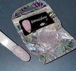 Светоотражающий сухой блеск для ногтей Diamond Powder №02