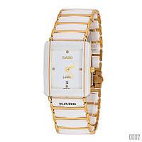 Женские наручные часы Rado White-Gold. Женские кварцевые часы. Часы. Белые часы для девушки.