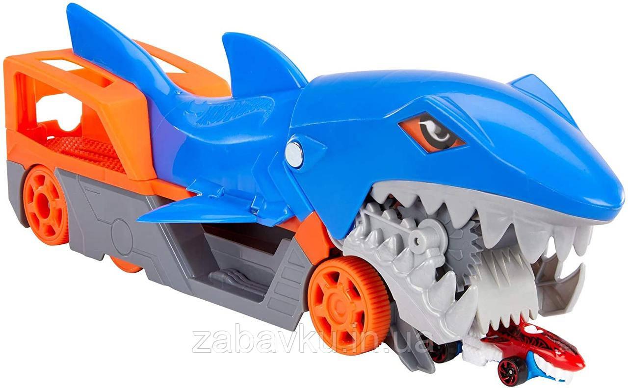 Hot Wheels Shark Chomp Transporter Хот Вилс автовоз транспортер трейлер акула Хот Вілс