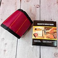 Магнитный браслет для мелких инструментов и запчастей Magnetic Wristband Красно-черный Оригинальные фото