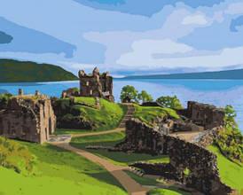 Картина за номерами. Замок Аркарт. Шотландія