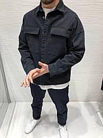 Чоловіча джинсовка оверсайз чорна