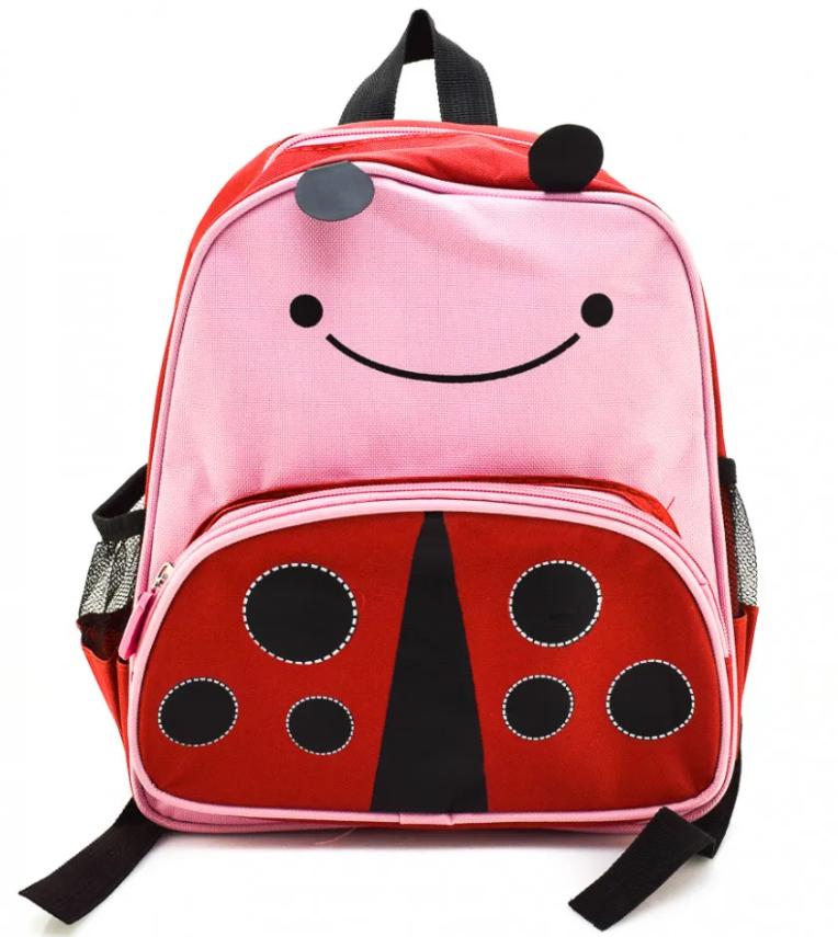 Дитячий дошкільний рюкзак у вигляді тварин Божа корівка
