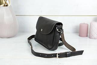 Сумка жіноча. Шкіряна сумочка Мія, Шкіра Італійський краст, колір Кава, фото 3