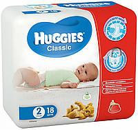 Подгузники Huggies Classic 2, 3-6 кг, 18 шт. (5029053543055)
