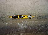 Каяк морський з рульовим управлінням SeaBird Nansen жовтий, фото 5