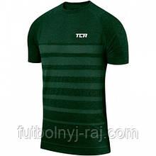 TCA SuperKnit Engineered Short Sleeve Mens Running Top - Green