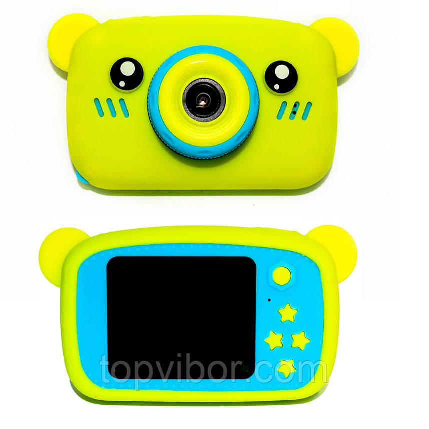 """Фотоапарат """"Жовтий ведмідь - Сhildrens fun camera"""" для дитини, цифрова дитяча камера (детский фотоаппарат)"""
