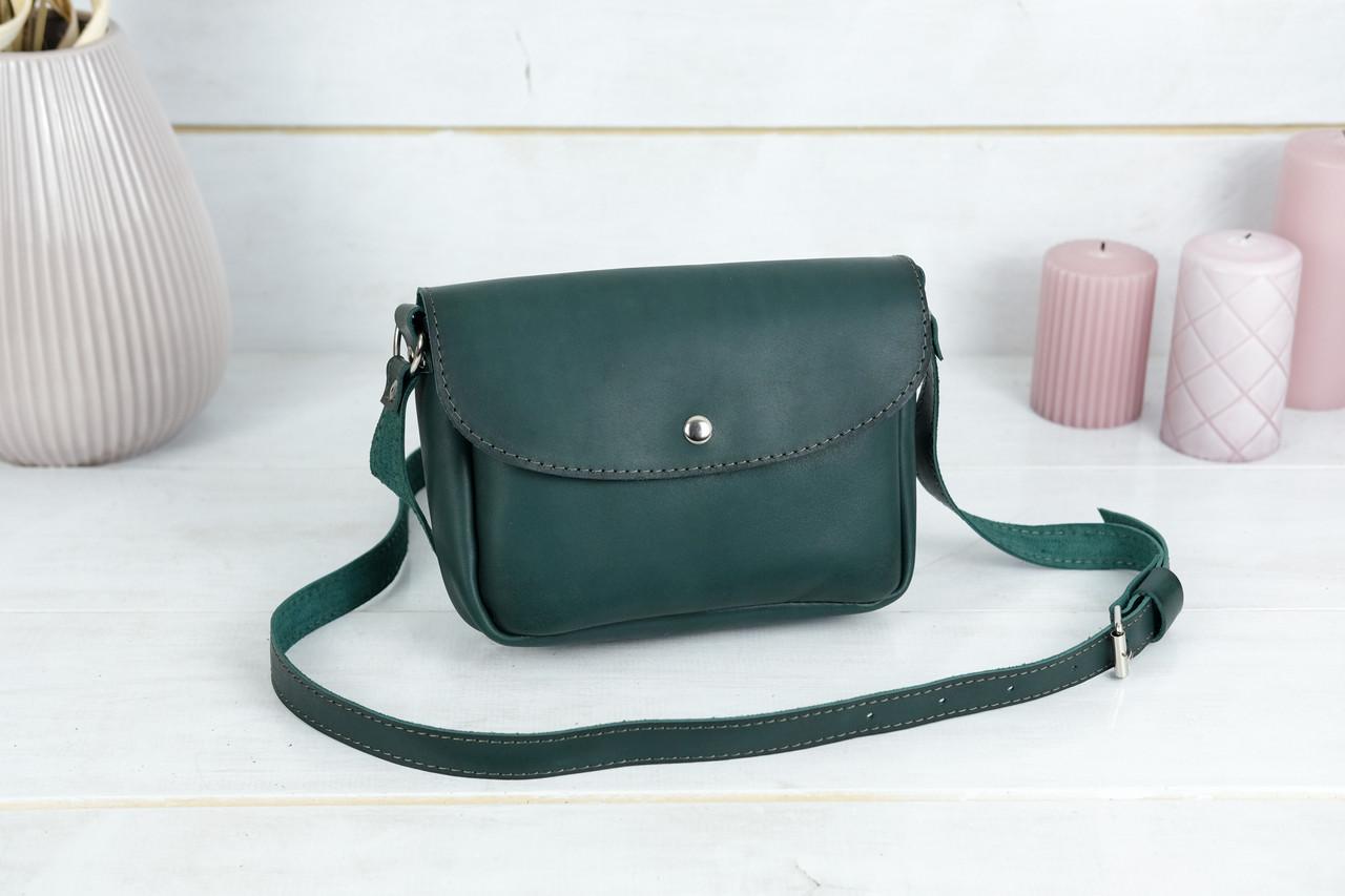 Сумка жіноча. Шкіряна сумочка Мія, Шкіра Італійський краст, колір Зелений