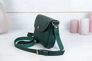 Женская кожаная сумка Мия, натуральная кожа итальянский Краст, цвет Зеленый, фото 2