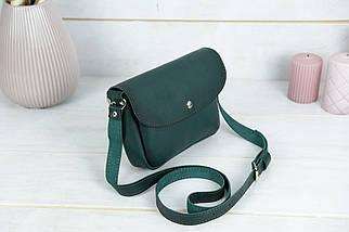 Женская кожаная сумка Мия, натуральная кожа итальянский Краст, цвет Зеленый, фото 3