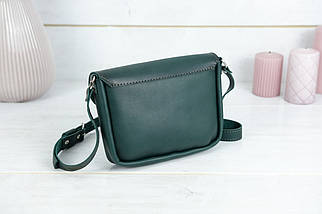 Сумка женская. Кожаная сумочка Мия, Кожа Итальянский краст, цвет Зеленый, фото 2