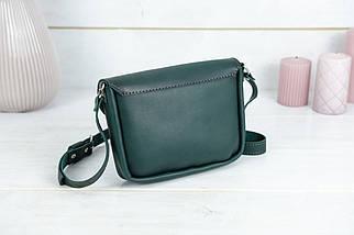 Сумка жіноча. Шкіряна сумочка Мія, Шкіра Італійський краст, колір Зелений, фото 2