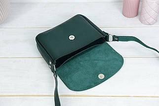 Сумка женская. Кожаная сумочка Мия, Кожа Итальянский краст, цвет Зеленый, фото 3