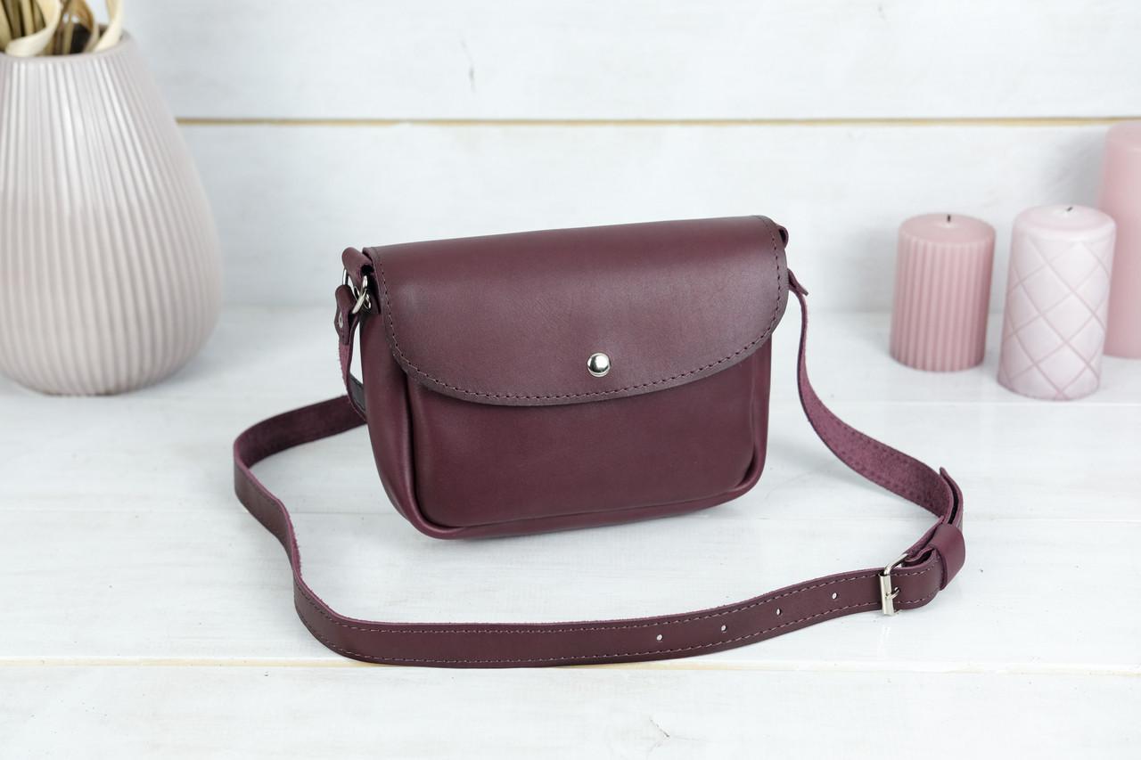 Сумка женская. Кожаная сумочка Мия, Кожа Итальянский краст, цвет Бордо