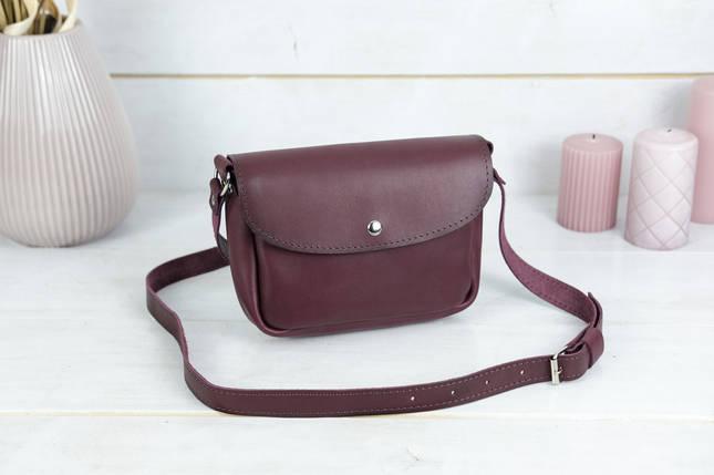 Сумка женская. Кожаная сумочка Мия, Кожа Итальянский краст, цвет Бордо, фото 2