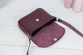 Сумка женская. Кожаная сумочка Мия, Кожа Итальянский краст, цвет Бордо, фото 3