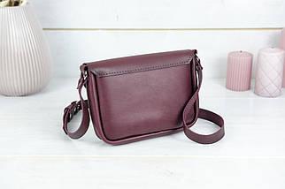 Жіноча шкіряна сумка Мія, натуральна шкіра італійський Краст, колір Бордо, фото 3