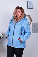 Женская куртка-пальто весенняя батал новинка 2021