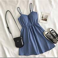 Женское летнее джинсовое платье-сарафан новинка 2021
