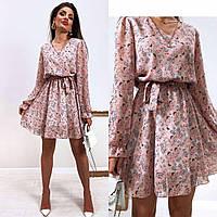 Платье весеннее в цветочек новинка 2021