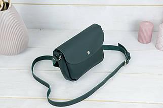 Сумка женская, Кожаная сумочка Мия, кожа Grand, цвет Зеленый, фото 2