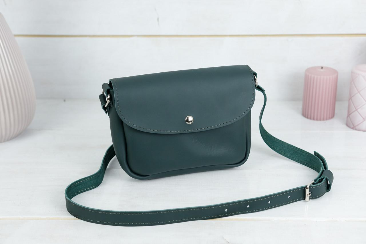 Сумка женская, Кожаная сумочка Мия, кожа Grand, цвет Зеленый