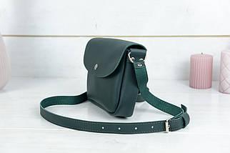 Сумка женская, Кожаная сумочка Мия, кожа Grand, цвет Зеленый, фото 3