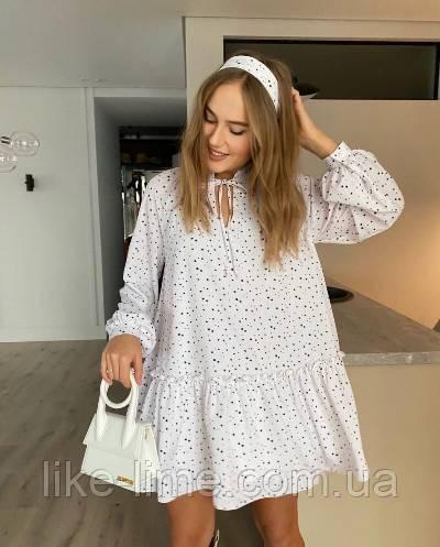Женское стильное платье с воланом новинка 2021