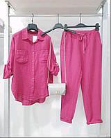 Женский брючный костюм с рубашкой в расцветках новинка 2021
