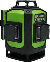 Акция всего 10шт Лазерный уровень 4D ЗЕЛЕНЫЙ ЛУЧ  Fukuda MW-94D-4GX 4 плоскости