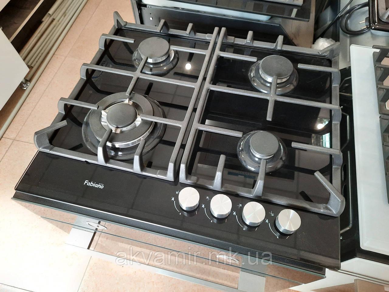 Варильна панель Fabiano FHG 10-44 VGH-T Black Glass (чорне скло) газова
