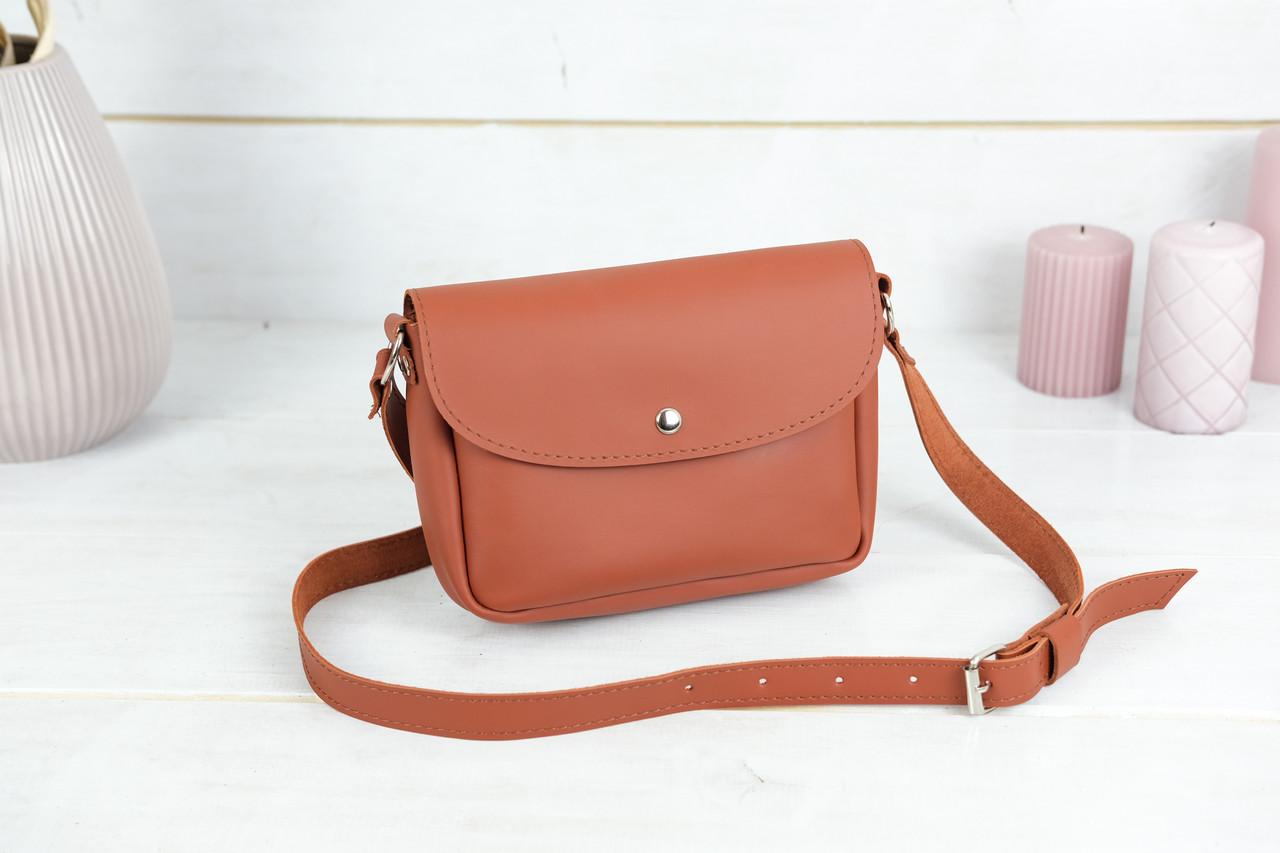Сумка жіноча, Шкіряна сумочка Мія, шкіра Grand, колір Коньяк