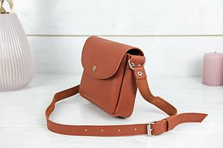 Сумка женская, Кожаная сумочка Мия, кожа Grand, цвет Коньяк, фото 3