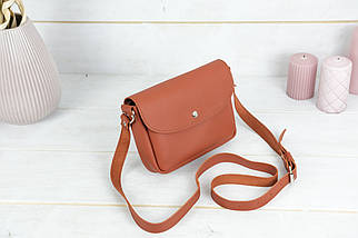 Сумка женская, Кожаная сумочка Мия, кожа Grand, цвет Коньяк, фото 2