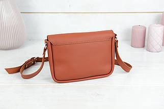 Сумка жіноча, Шкіряна сумочка Мія, шкіра Grand, колір Коньяк, фото 2