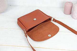 Сумка жіноча, Шкіряна сумочка Мія, шкіра Grand, колір Коньяк, фото 3