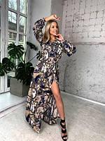 Женское платье в цветочек норма и батал новинка 2021