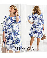 Платье летнее легкое ,платья летние батал в цветочек новинка 2021