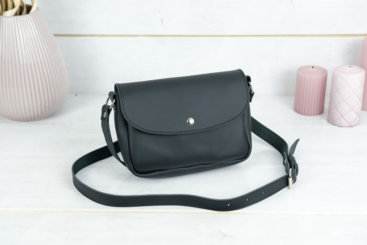 Сумка женская, Кожаная сумочка Мия, кожа Grand, цвет Черный