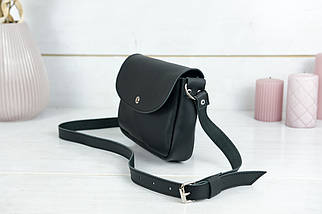 Сумка женская, Кожаная сумочка Мия, кожа Grand, цвет Черный, фото 3