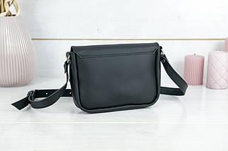 Сумка женская, Кожаная сумочка Мия, кожа Grand, цвет Черный, фото 2