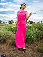 Літній пряме плаття в підлогу максі з легкого штапелю без рукавів р-ри 42-46 арт. 0159