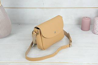 Сумка женская, Кожаная сумочка Мия, кожа Grand, цвет Бежевый, фото 2