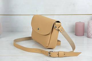 Сумка женская, Кожаная сумочка Мия, кожа Grand, цвет Бежевый, фото 3