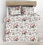 """Відріз тканини """"Троянди пудровий-бордові"""", розмір 85 * 160 см, фото 4"""
